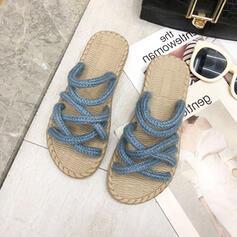 Női Szövet Lapos sarok Szandál Peep Toe Papucs -Val Egyéb cipő