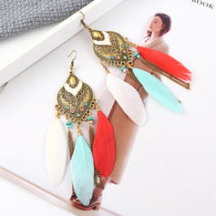 Fashionable Exotic Alloy Feather Women's Earrings