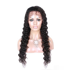 5A Virgin/remy Loose Wavy Human Hair Lace Front Wigs (Sold in a single piece)
