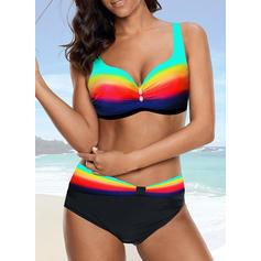 Splice kleur Riem Sexy Bikini's Badpakken
