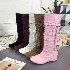 Πλατφόρμα Σφήνες Μπότες Γόβες υψηλές μπότες Με Κέντημα-επάνω παπούτσια