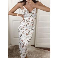 Print/Floral Sleeveless Sheath Slip Sexy/Casual/Party/Vacation Midi Dresses