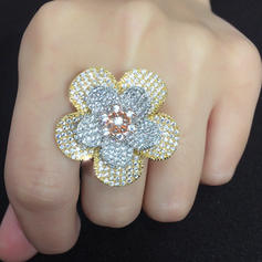 Shining Zircon With Zircon Women's Fashion Rings (Sold in a single piece)