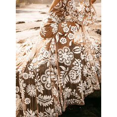 Print/Floral Long Sleeves A-line Sexy/Party/Vacation Maxi Dresses