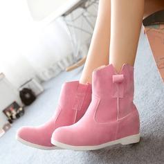 Dla kobiet Zamsz Płaski Obcas Kozaki Buty zimowe Z Łączona obuwie