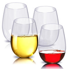 Modern Classic Simple PCTG Wine & Champagne Glasses (Set of 4)