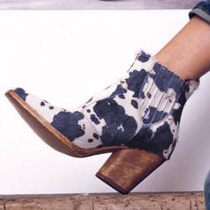 Vrouwen PU Chunky Heel Laarzen met Anderen schoenen