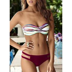 Bandeau Triangle Low Waist Strapless Sexy Bikinis Swimsuits
