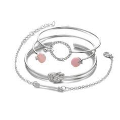 Hottest Knot Alloy With Arrow Bracelets (Set of 4)