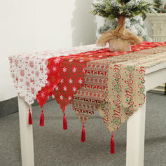 Merry Christmas Linen Table Runner