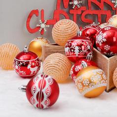"""Feliz Navidad 24 PCS 2.36"""" PVC Decoración navideña Pelota (Juego de 24)"""