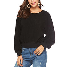 Spandex Polyester Couleur unie Sweat-shirts