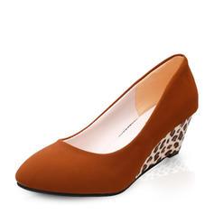 Femmes Suède Talon compensé Escarpins Bout fermé Compensée avec Autres chaussures