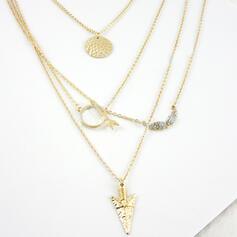 Wyjątkowy Znakomity Szykowny Stop Zestawy biżuterii Naszyjniki Biżuteria plażowa