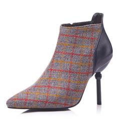 Femmes Similicuir Talon stiletto Escarpins Bottes avec Autres chaussures