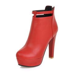 Donna Similpelle Tacco a spillo Stivali Stivali alla caviglia con Fibbia scarpe