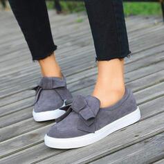 Frauen PU Flascher Absatz Flache Schuhe mit Bowknot Schuhe