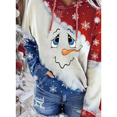 Print Lommer Lange ærmer Jule sweatshirt