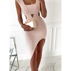 Solid Sleeveless Bodycon Asymmetrical Sexy/Party Dresses