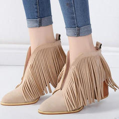 Femmes PU Talon bottier Escarpins Bottes avec Tassel chaussures