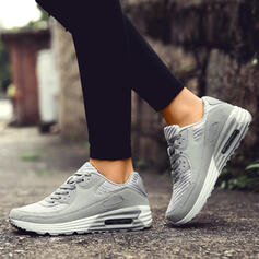 Women's Leatherette Mesh Casual Outdoor Athletic Hiking With Lace-up shoes