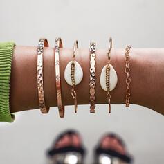 Boho Alloy With Shell Bracelets (Set of 6)