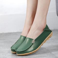 Pentru Femei Piele Reală călcâi plat Balerini cu Drapată pantofi