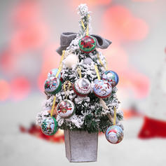Merry Christmas Snowman Reindeer Santa Hanging Metal Christmas Pendant Candy Jars Ball