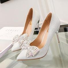 Femmes Pailletes scintillantes Talon stiletto Escarpins avec Bowknot chaussures