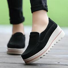 Women's Suede Casual Outdoor Athletic With Elastic Band shoes