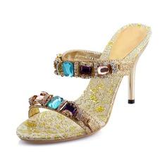 Női Csillám Tűsarok Szandál Zárt szandál -Val Hegyikristály cipő