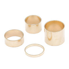 Beautiful Alloy Ladies' Rings (Set of 4)
