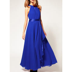 Solid Sleeveless Shift Casual/Party/Elegant Maxi Dresses