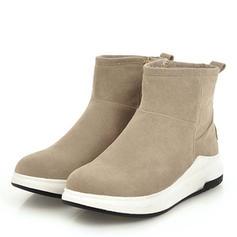 Femmes Suède Talon plat Compensée Bottes Bottines chaussures