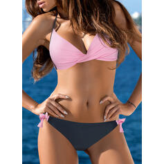 Underwire Low Waist Halter Sexy Plus Size Bikinis Swimsuits