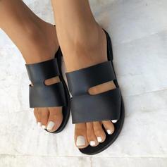 Dámské Koženka Placatý podpatek Sandály Boty Bez Podpatku obuv