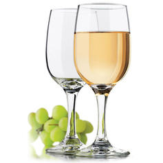 Modern Glass Wine Glasses (Set of 6)