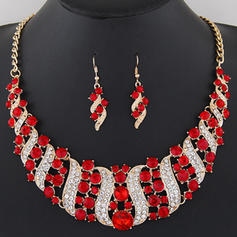 Fashionable Alloy Rhinestones With Rhinestone Ladies' Jewelry Sets