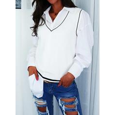 Druck V-Ausschnitt Lässige Kleidung Pullover