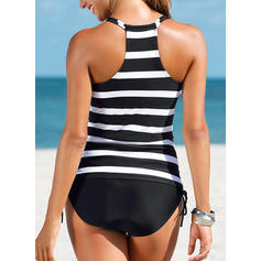 Stripe Strap Classic Tankinis Swimsuits