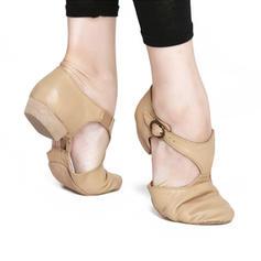 Dla kobiet Jazz Plaskie Prawdziwa Skóra Balet