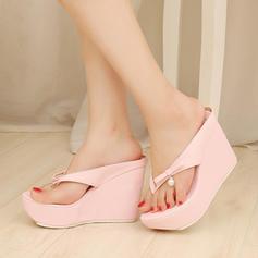Naisten Keinonahasta Wedge heel Sandaalit Avokkaat Platform Tossut kengät