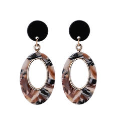 Chic Alloy Acrylic Women's Fashion Earrings