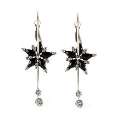 Flower Shaped Alloy Resin Women's Earrings
