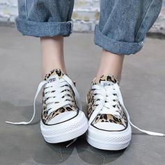 De mujer Lona Tacón plano Planos con Cordones zapatos