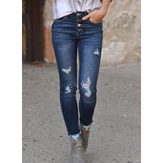 Ripped Long Elegant Sexy Denim & Jeans