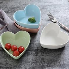 Forme de coeur Porcelaine Bols À Soupe