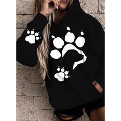 Animal Print Long Sleeves Hoodie