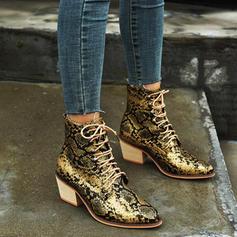 Femmes PU Talon bottier Bottes avec Dentelle chaussures