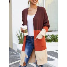 Color Block Pocket Cardigan